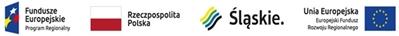 Logotyp informujący odofinansowaniu zawiera symbole: Fundusze Europejskie Program Regionalny, flaga Polski, województwo śląskie, Europejski Fundusz Rozwoju Regionalnego